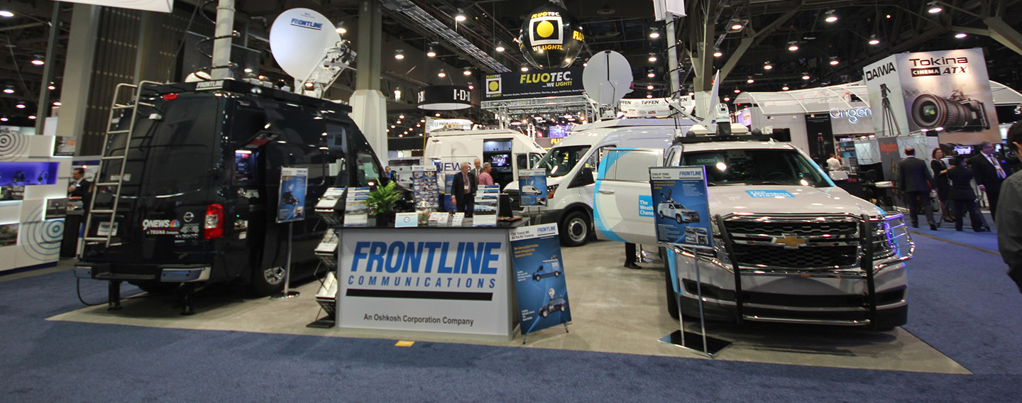 Frontline Communications Tradeshow Booth