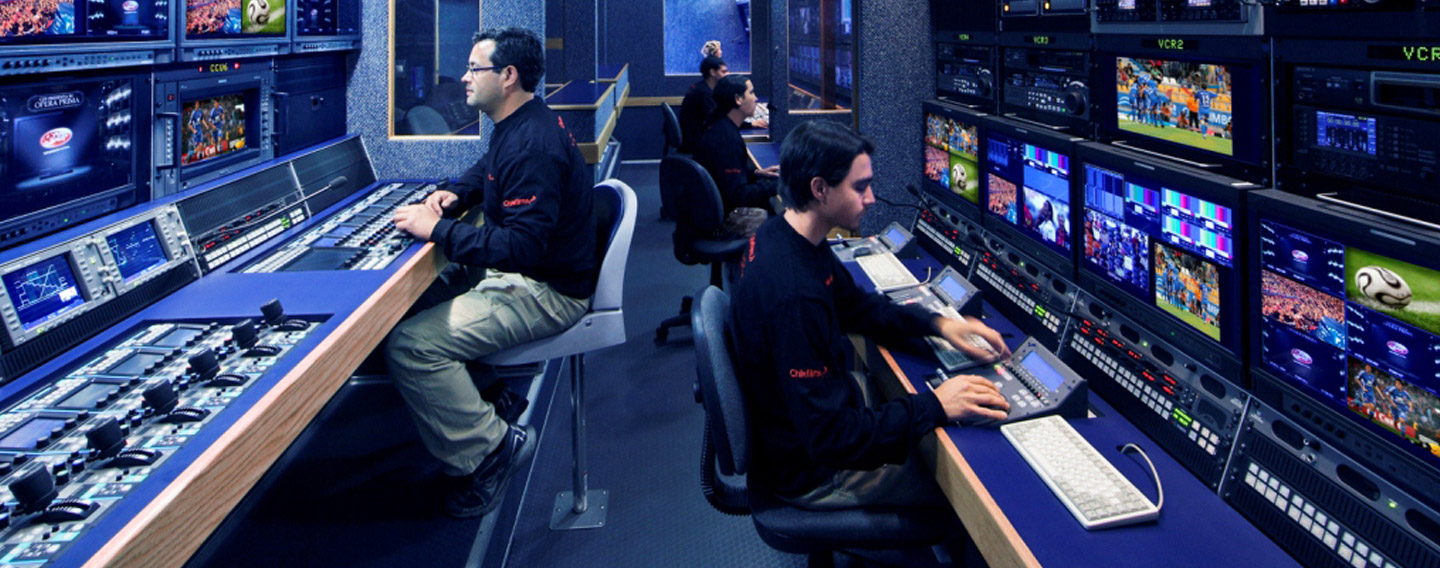 Frontline Communications Production Truck / Production Trailer Interior